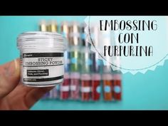 TUTORIAL ▷ EMBOSSING CON PURPURINA - YouTube Embossing Powder, Youtube, Crafty, Instagram, Etsy, Scrapbooking, Ideas, Tips, Cards