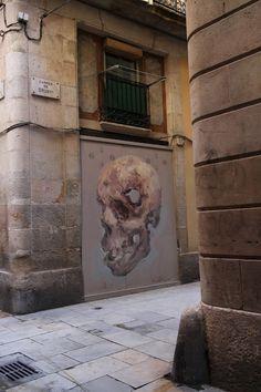 EMILIO CEREZO  'Puerta al sótano'  [Barcelona, Spain 2015] Barcelona 2015, Emilio, New Wall, Urban Art, Mount Rushmore, Street Art, Spain, World, Nature
