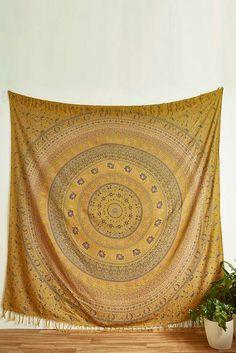 Slide View: 1: Shika Medallion Tapestry