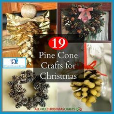 DIY And Household Tips: 19 Pine Cone Crafts for Christmas