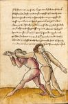Cod.I.6.4º.2 38v.png {Codex Wallerstein (or Codex I.6.4º.2) is a German fencing manual compiled by Paulus Hector Mair in 1556.[1]}