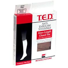 TED AntiEmbolism Stockings Medium Regular Beige Knee Length Closed Toe 1 Pair >>> You can get more details by clicking on the image.