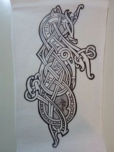 Armor Tattoo, Norse Tattoo, Celtic Tattoos, Viking Tattoos, 3d Tattoos, Sleeve Tattoos, Art Viking, Viking Dragon, Viking Designs