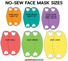 Make a No-Sew Face Mask From a T-Shirt! - Jennifer Maker Learn how to make a SUPER EASY & COMFY no-sew face mask from an old T-shirt or even woven cotton fabric. Includes a free printable pattern and full tutorial! Easy Face Masks, Homemade Face Masks, Diy Face Mask, Mens Face Mask, Face Masks For Kids, Full Face Mask, Sewing Hacks, Sewing Projects, Sewing Tutorials