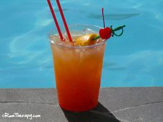 Caribbean Rum Punch Recipe Beverages with lime juice, orange juice, pineapple juice, dark rum, light rum, grenadine