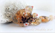 "ELA Lampwork Beads - ""Golden Fascination""  #Lampwork"