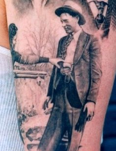 Bonnie and Clyde tattoo