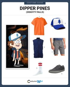 "Dress up to explore Gravity Falls like 12-year-old Mason ""Dipper"" Pines from the TV show Gravity Falls on Disney XD."