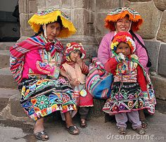 Peruvian tribal women and children. A world away but yet so connected.