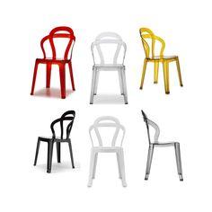 Sedie per bar impilabili modello Titi'. Sedie eleganti, robuste, comode e moderne, ottimo rapporto prezzo-qualita, ideali per casa, cucina, soggiorno, ufficio, sala d'attesa, sala conferenze, bar, ristorante, pub, pizzeria, gelateria, pasticceria, negozio, albergo, discoteca. TITI di Roberto Semprini è una sedia impilabile con struttura in policarbonato disponibile in diversi colori trasparenti o pieni. Caratterizzata da uno schienale di sapore neoliberty, leggera e luminosa si adatta ad…