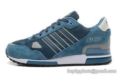 Men's ADIDAS ZX750 Jogging Shoes Nubuck Green|only US$85.00 - follow me to pick up couopons.