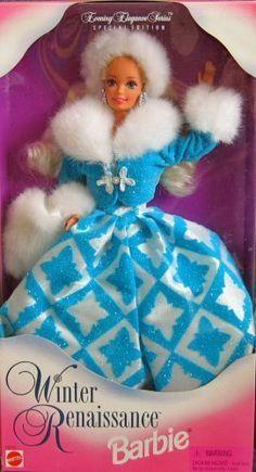 """NIB 1996 J.C Penney Exclusive Barbie /""""Winter Renaissance/"""""""