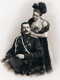 Princess Zinaida Nikolaevna Yusupova with her husband