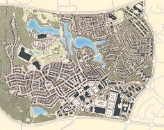 Kentlands, Gaitherburg Maryland. New Urbanist masterplan and influential design code by Duany Plater-Zyberk.