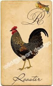 vintage rooster - Google Search