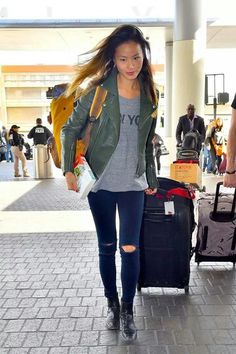 Jamie Chung Airport Style
