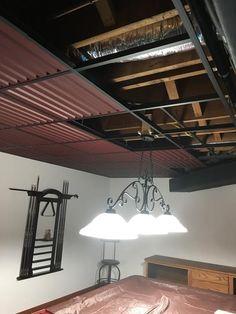 Graceful cheap diy basement ceiling ideas that look beautiful Basement Makeover, Basement Renovations, Home Remodeling, Kitchen Remodeling, Basement House, Basement Walls, Basement Kitchenette, Walkout Basement, Basement Storage