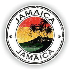 Jamaica Seal Sticker Round Flag for Laptop Book Fridge Guitar Motorcycle Helmet ToolBox Door PC Boat Giamaica Seal Sticker Bandiera tonda per libro portatile Frigo Chitarra Moto Casco ToolBox Porta PC Barca Futuristic Motorcycle, Motorcycle Helmets, Women Motorcycle, Jamaica Travel, Retro Logos, Stickers, Tool Box, Travel Posters, New Art