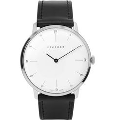 Type 1A Stainless Steel and Leather Watch | MR PORTER