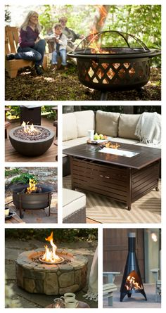 easy diy fire pit ideas for your backyard landscaping, with seat, table, etc Outdoor Rooms, Outdoor Gardens, Outdoor Living, Outdoor Decor, Backyard Patio, Backyard Landscaping, Landscaping Ideas, Diy Fire Pit, Fire Pits