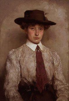 Portrait of Mrs. Hamilton, 1909 by Henry Scott Tuke (British, 1858-1929)