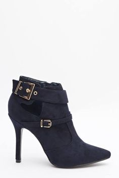 Womens Ladies Navy Faux Suede High Heel Shoes Buckle Ankle Boots Size UK 8 New  Click On Link To Visit My Ebay Shop http://stores.ebay.co.uk/all-about-feet  Useful Info:  - Standard Size - Standard Fit - By Beauty Girl's - Navy In Colour - Heel Height: 4 Inches - Inner Side Zip Fastening - Gold Adjustable Buckle Strap #shoes #ankleboots #boots #navy #navyboots #highheel #highheels #fauxsuede #buckle #fashion #footwear #forsale #ebay