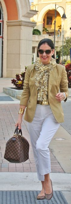 jacket with white- neutrals