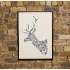 stag head print