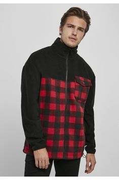 Bomber Jacket Men, Men's Jacket, New Fashion Clothes, Polar Fleece, Urban Classics, Plain Black, Vintage Jacket, Plaid Pattern, Urban Fashion