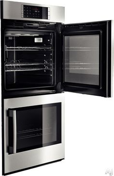 """Bosch HBLP651 30"""" Double Electric Wall Oven with 4.6 cu. ft. European Convection Ovens, Self-Clean, 14 Cooking Modes, Fast Preheat, Temperature Probe and Side-Swing Door"""
