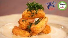 Crumbed Jazz Apple with Coconut Egg Custard recipe - Everyday Gourmet with Justine Schofield. Recipe from Everyday Gourmet with Justine Schofield Delicious Dinner Recipes, Yummy Food, Egg Custard Recipes, Oil For Deep Frying, Kaffir Lime, Coconut Rice, Jazz, Favorite Recipes, Cooking