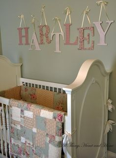shabby chic nursery...I like the quilting on this one