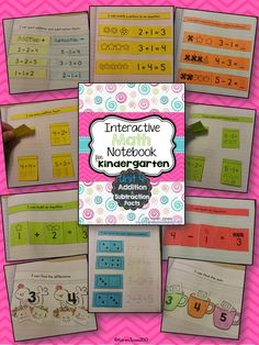 Interactive Math Notebook for Kindergarten: Unit 4: Addition & Subtraction Facts. My kids LOVE working in their math notebook! $
