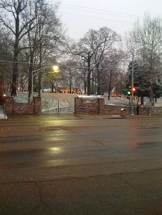 Gates At Night                                      Long Shot of Graceland and the Gates