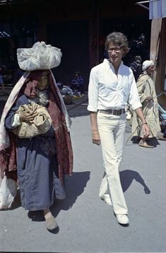 Rare photos of Yves Saint Laurent in Morocco in the 70's | Moroccan Ladies