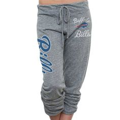 Buffalo Bills Ladies Touchdown Tri-Blend Crop Pants - Ash