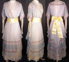 i-love-historical-clothing: edwardian tea gown