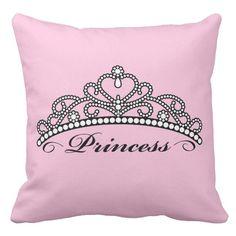 Tiara da princesa Travesseiro Casos, Coroa Lona Decorativa Capa de Almofada, rosa Sofá Throw Pillow Covers, Home Decor Para Crianças Presente de Natal(China)