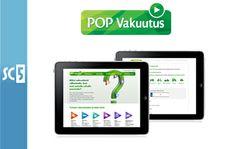 Pop vakuutuksen verkkopalvelut by SC5 Online. #Webkehitys #mobiilikehitys