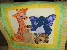 quilt that Gill and I made for Charlotte's birth present