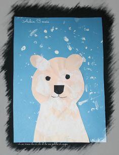 Ours sous la neige d'aubin