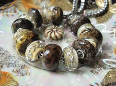 Rustic~ #Ambers and #Unique #Trollbeads. ♥♥♥