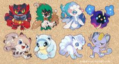 """nabeicat: """"Each Reblog gives me motivation to finish all newly released pokemon from sun and moon. If it hits 3,000 likes I'll upload them all! """""""
