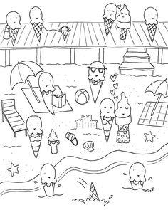 free downloadable summer fun coloring book pages | ideen für kinder | ausmalbilder, malvorlagen