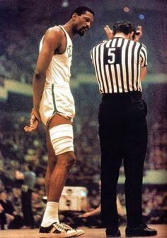 Bill Russell vs. NBA Ref (the most corrupt in sports)