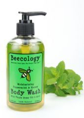 Beecology Honey and Peppermint Body Wash is an invigorating, eye-opening way to start your day. Our most refreshing natural body wash is built on a simple foundation of coconut, olive, and organic hemp oils, for luscious lather and gentle cleansing.     The delicious fragrance of our very own honey and essential oil of peppermint revives and rejuvenates like no other natural body wash. Liven up with Beecology Honey and Peppermint Body Wash, and be at your best for whatever the day may bring.  8 fl. oz.  Price: $8.99