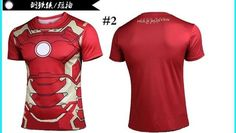 Iron Man - Fitness Crossfit Short Sleeve T-shirts for Men