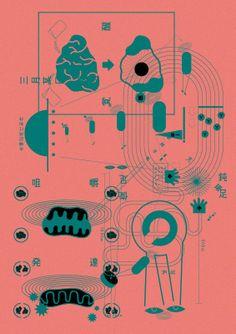 Gurafiku Review: Standout Japanese graphic design created in 2013. Amalgam, Tadashi Ueda
