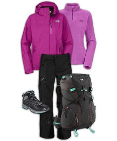 North Face hiking outfit