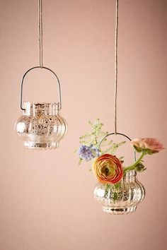 BHLDN Lustrous Hanging Lantern in  Décor View All Décor at BHLDN